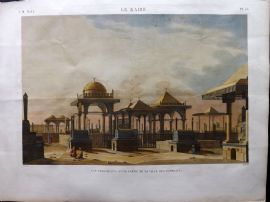 Description de l'Egypte C1820 HCol Print. Ville des Tombeaux. Cairo Egypt